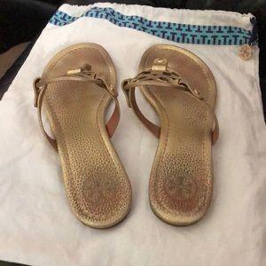 Tory Burch Shoes - Tory Burch Miller Sandal - metallic gold